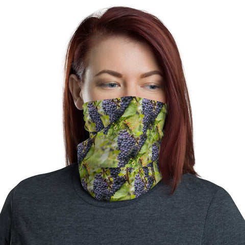 Pinot Noir Grape Vines - Neck Gaiter Headband Face Shield