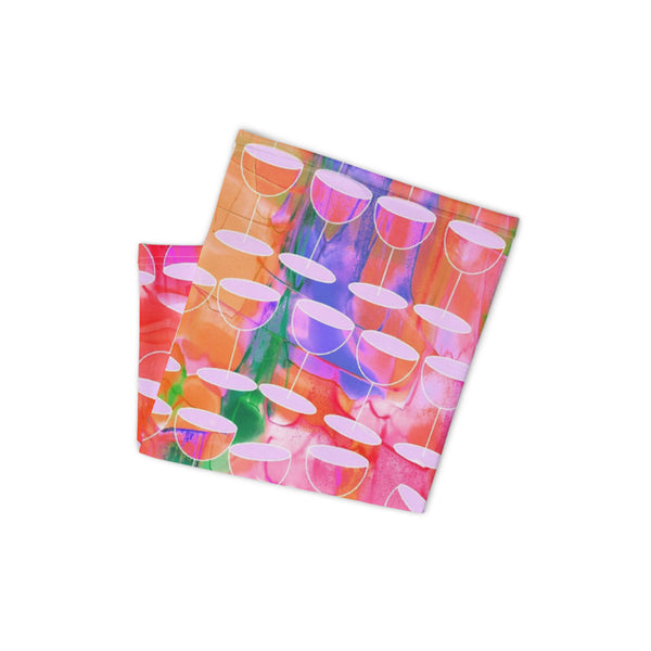 Woman's Neck Gaiter with Abstract Wine Design