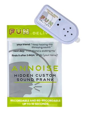 Annoise annoys people with your selected custom sound recording prank gag joke