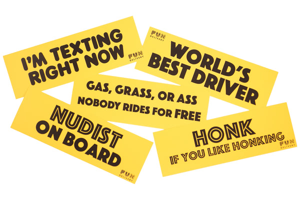 Funny Bumper Stickers-Political Bumper Stickers-Removeable Bumper Stickers-Gag Gift-April Fools Day-White Elephant-Pranks