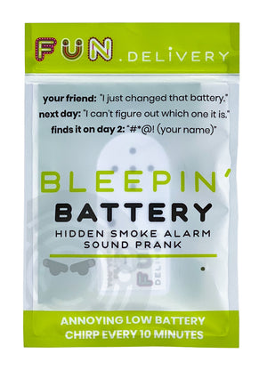 Bleepin' battery is the hidden smoke alarm low battery sound prank gag joke for office shenanigans