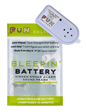 Bleepin' battery is the hidden smoke alarm low battery sound prank gag joke