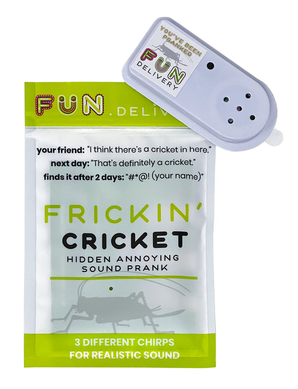 Frickin' Cricket is the office prank for coworkers family friends to annoy joke gag