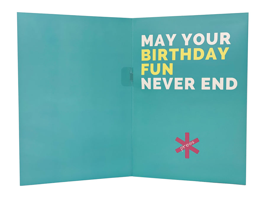 Crappy Birthday Card: neverending musical joke