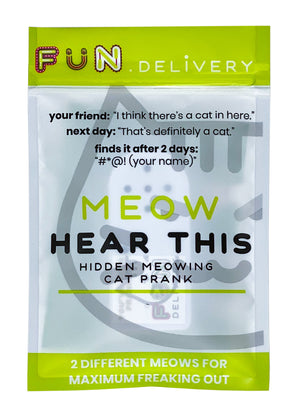 Meow Hear This: hidden meowing cat prank
