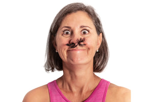 Fake Hair-Fake Mustache-Gag Gift-April Fools Day-Halloween Costume-White Elephant-Pranks