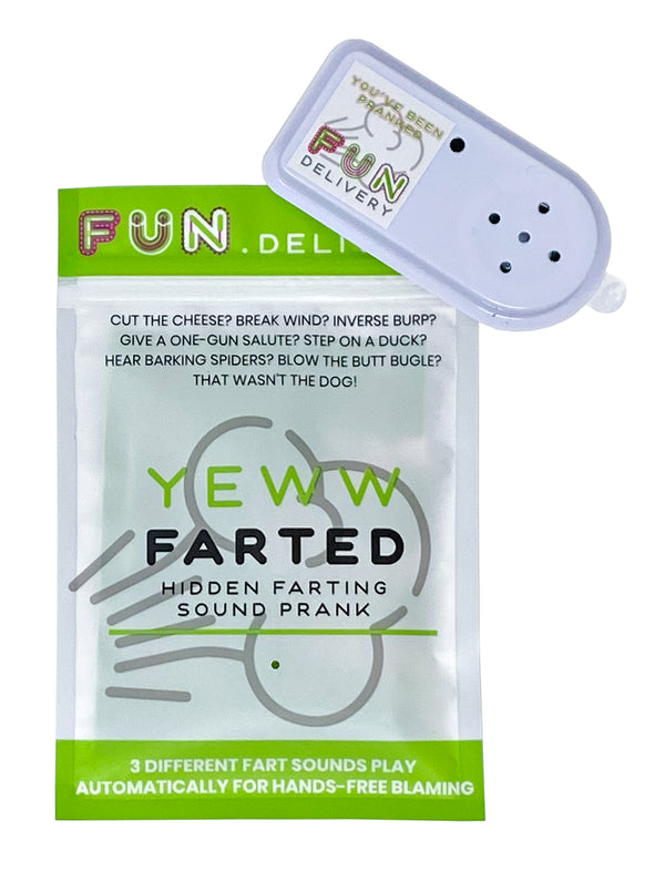 Yeww Farted gag prank joke hidden fart sound hands free pranking