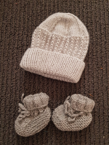 Prem Knitted Beanie & Booties