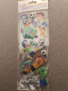 Puffy Soccer Stickers