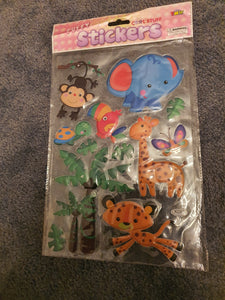Puffy Zoo Stickers