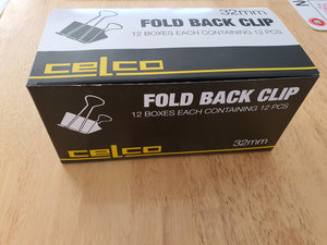 Celco Fold Back Clip 32mm 12 boxes of 12 Pack