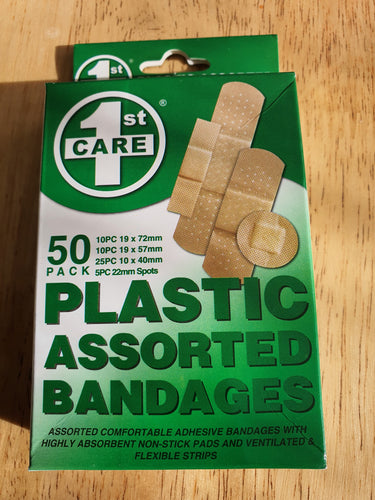 50 Pack Band aids Assorted Sizes