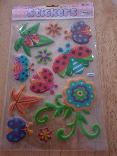 Ladybird Puffy Stickers