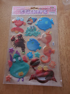 Sea Puffy Stickers