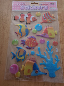 Fish Puffy Stickers