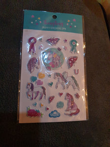 Spencil Unicorn Puffy Stickers 2pk