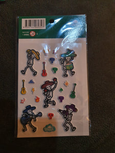 Spencil Skeleton Puffy Stickers
