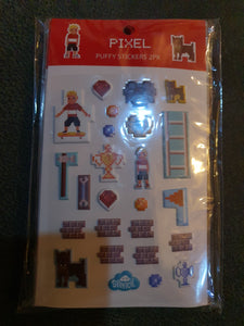 Spencil Pixel Puffy Stickers 2pk