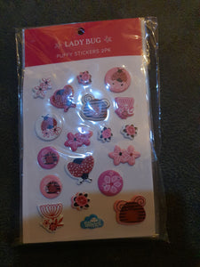 Spencil Lady Bug Puffy Stickers 2pk
