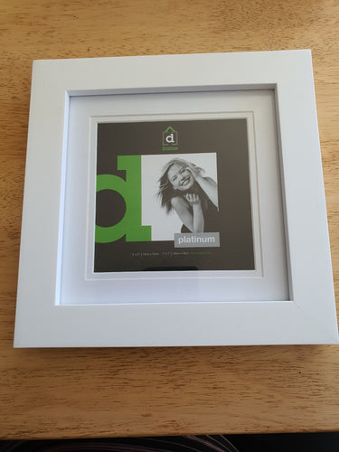 White Square Frame 5 x 5