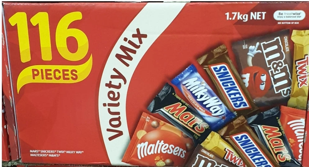 Variety Mix 116 Pieces Chocolates 1.7kg