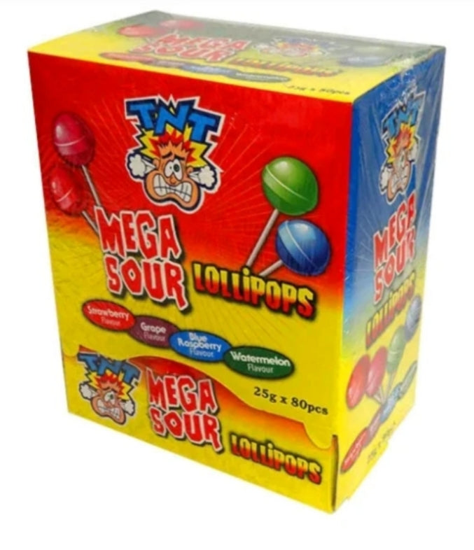 TNT Mega Sour Lollipops 80 Pack