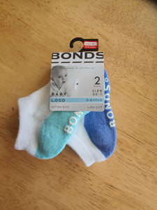 Bonds Baby Logo Low Cut 2 Pack