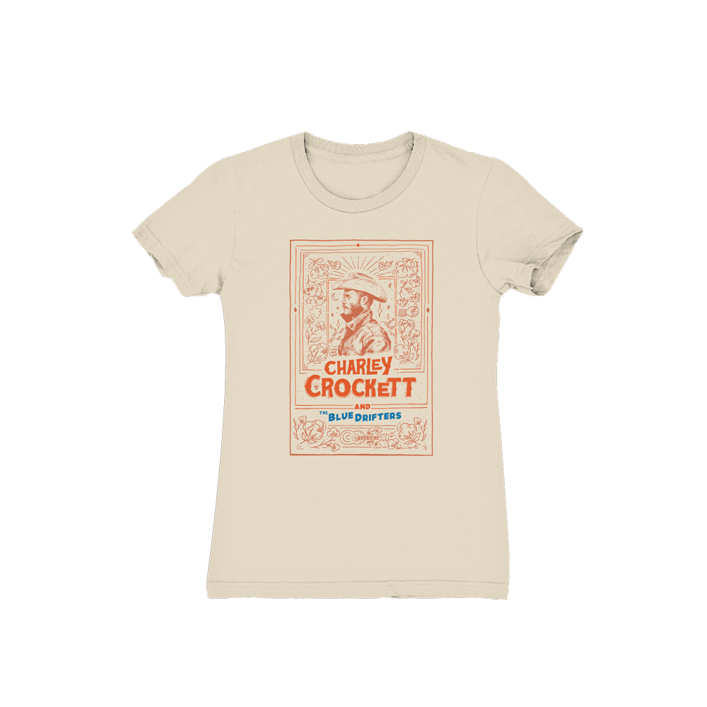 Joonbug Charley Crockett & The Blue Drifters Ladies T-Shirt
