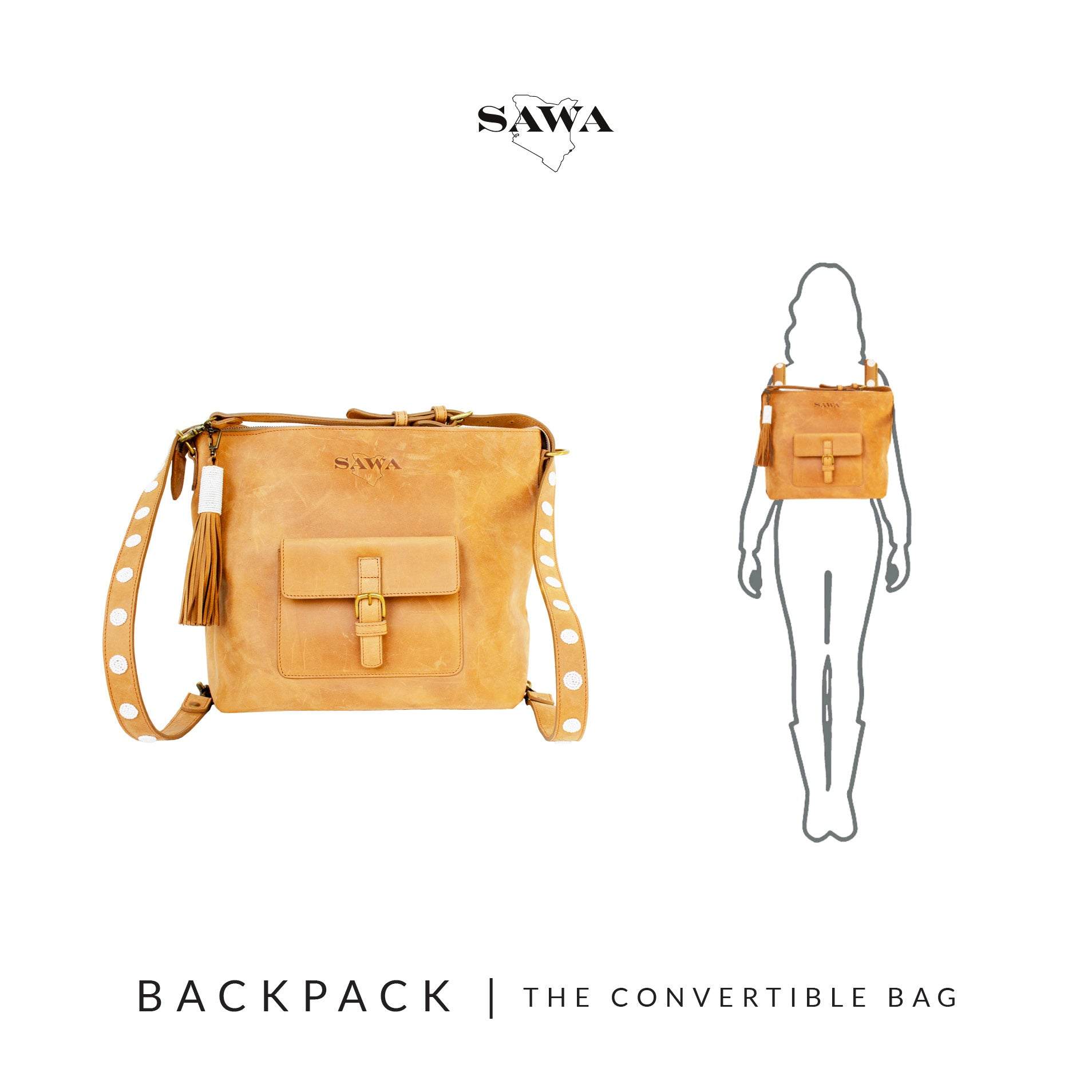 How to wear The Convertible Bag Backpack