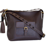 Brown Leather Convertible Bag