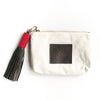 White Canvas Pouch