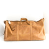 Camel Leather Weekender Bag