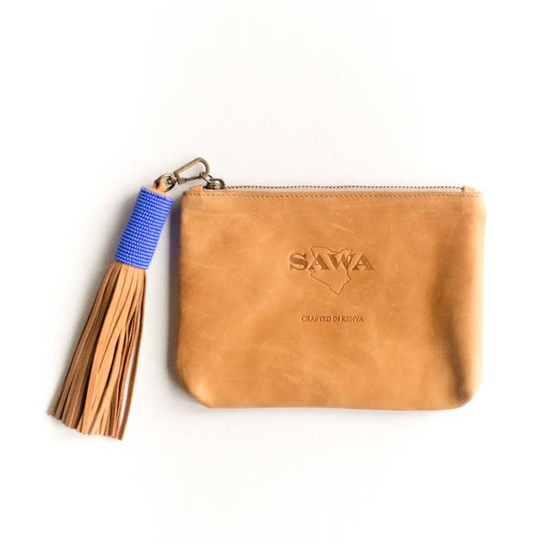 Camel Leather Pouch