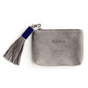 Grey Leather Pouch