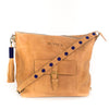 Camel Leather Convertible Travel Bag
