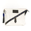 White Canvas Convertible Travel Bag