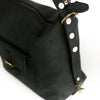 Black Leather Convertible Travel Bag