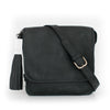 Black Leather Convertible Everyday Bag