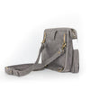 Grey Leather Convertible Everyday Bag