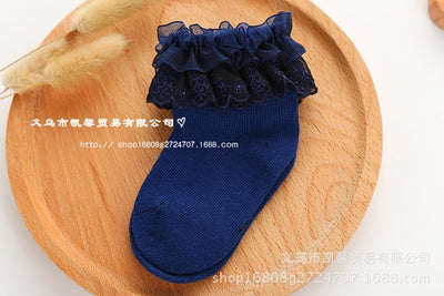 Newborn Baby Cotton Socks Lace