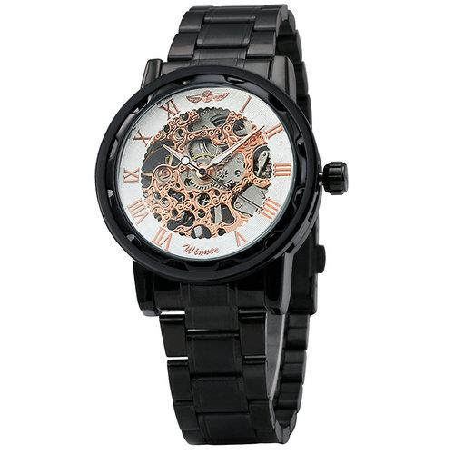Stunor Skeleton Stainless Steel Watch 2018!