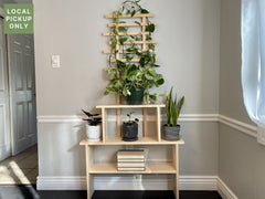 3 Wide Plant Stand With Trellis