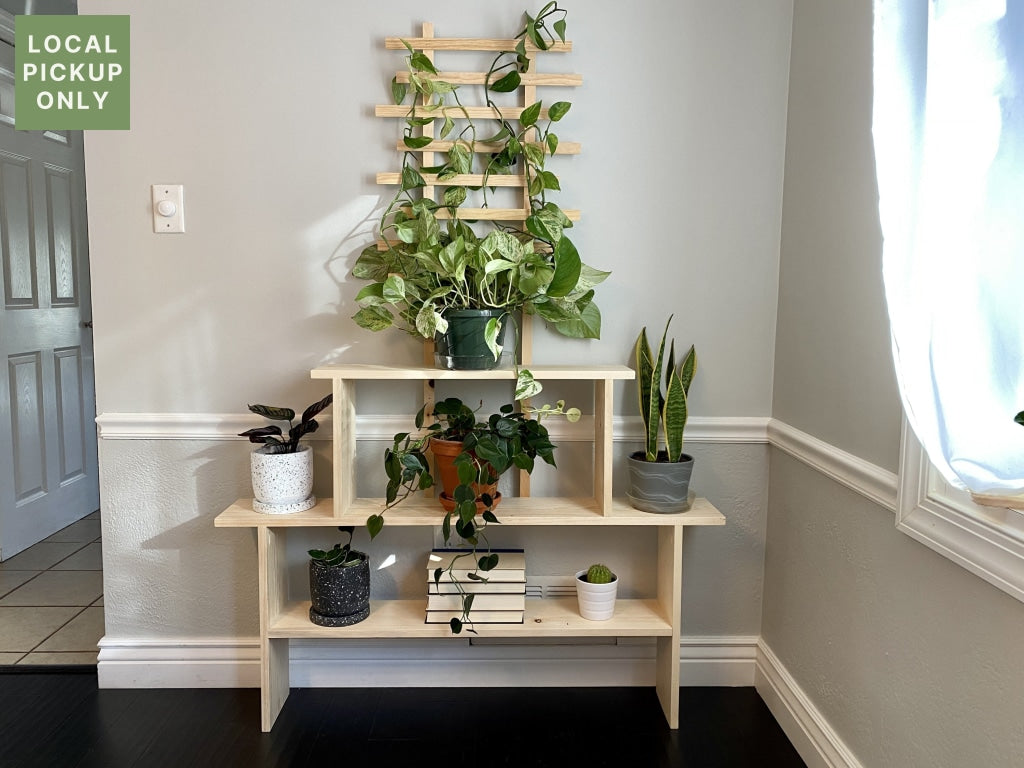 4 Wide Plant Stand With Trellis