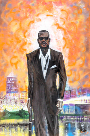 LeBron James Bond Print
