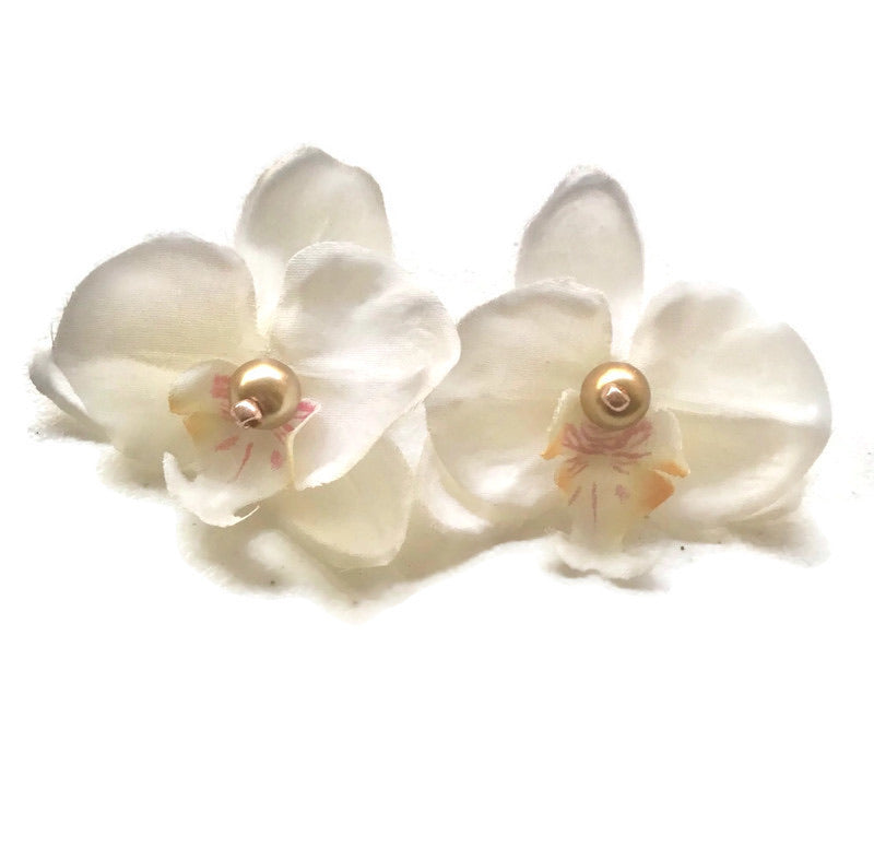 Orchid studs - AnneDePasquale