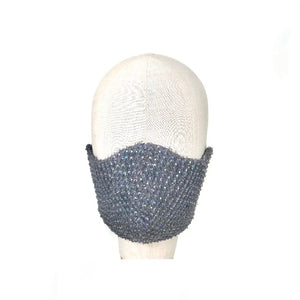 Silk beaded face mask - AnneDePasquale