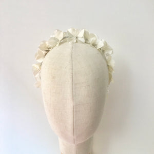 White flower halo headband - AnneDePasquale