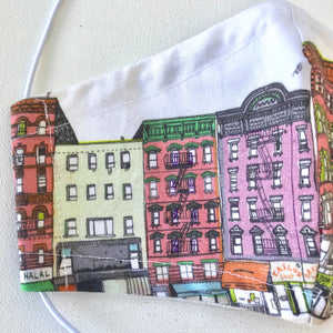 Buildings of NYC Face Mask