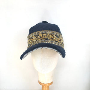 Royal Blue Velvet Square Cap