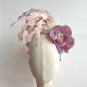 Pink Orchid Fascinator - AnneDePasquale